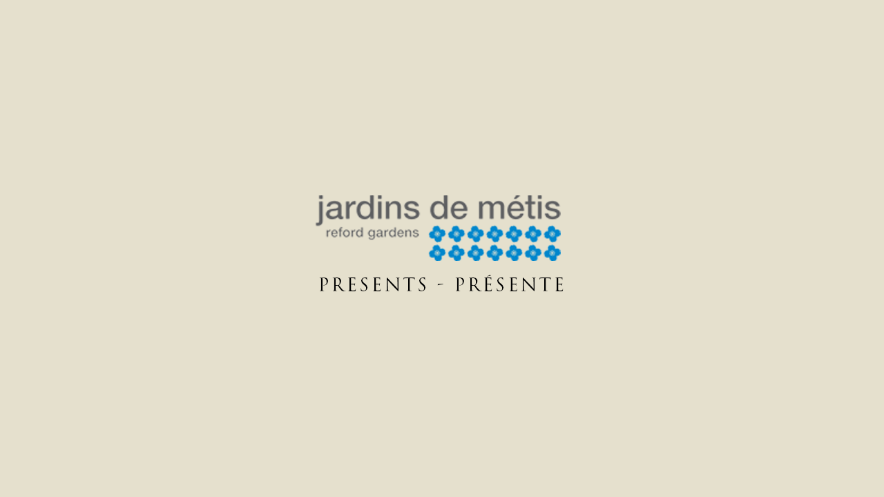 logo jardins de métis | Fleurs d'Armes - Une exposition artisitique itinérante | www.fleursdarmes.ca